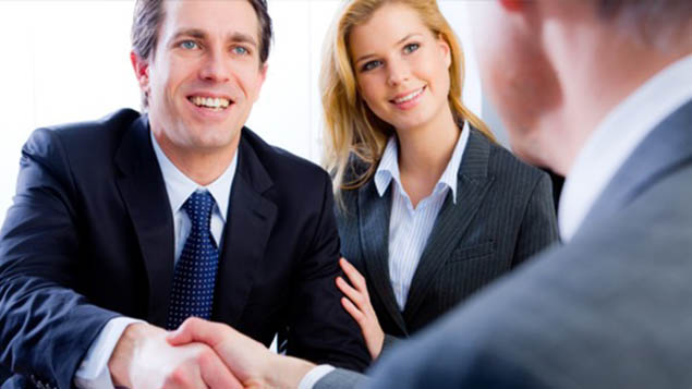 attorney clients shake hands
